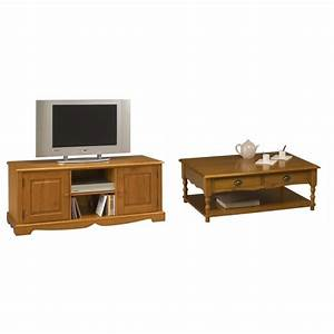 ensemble table basse et meuble tv pin miel beaux meubles With ensemble meuble tv et table basse