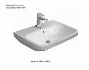 Waschbecken 60 Cm Breit : duravit durastyle waschbecken in weiss bei ~ Markanthonyermac.com Haus und Dekorationen