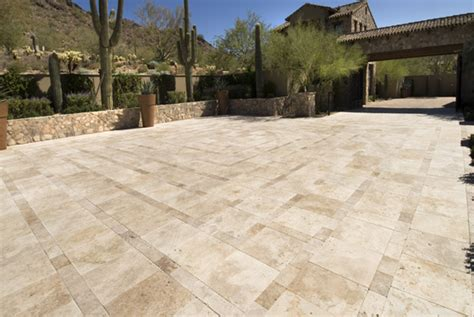 travertine tile landscaping gardening ideas