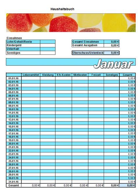 kostenlose haushaltsbuch vorlagen office lernencom