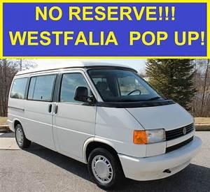 No Reserve 110k 1993 Vw Eurovan Mv Westfalia Camper Van