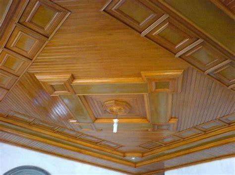 model plafon kayu  cantik  unik  rumah