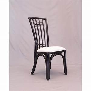 Chaise Rotin Noir : chaise en rotin coloris noir avec haut dossier ~ Teatrodelosmanantiales.com Idées de Décoration