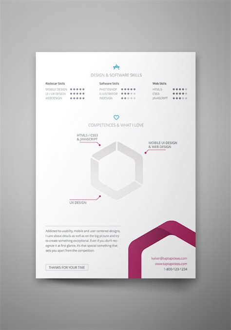 Free Creative Resume Templates Indesign by Free Vita Resume Indesign Template