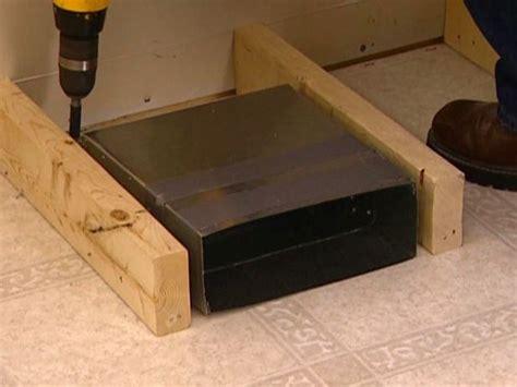 redirecting  floor vent   banquette   method