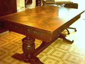 Table En Bois Massif Ancienne : table salle a manger ancienne table ronde en bois extensible trendsetter ~ Teatrodelosmanantiales.com Idées de Décoration