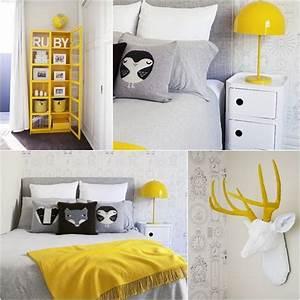 Chambre Bebe Jaune : d co chambre jaune et gris ~ Nature-et-papiers.com Idées de Décoration