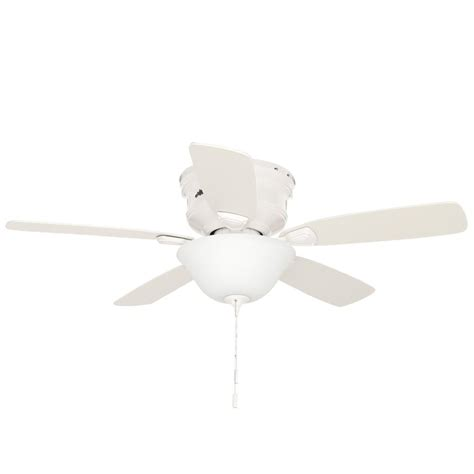 low profile white ceiling fan hunter low profile 48 in indoor white ceiling fan with