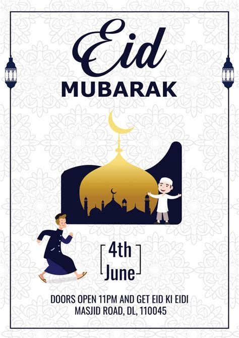 eid mubarak flyer social media post freedownloadpsdcom