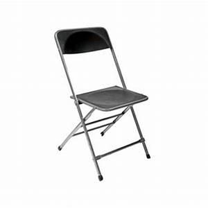 Chaise Pliante Noire : chaises pliantes chaise pliante pvc noir ~ Teatrodelosmanantiales.com Idées de Décoration