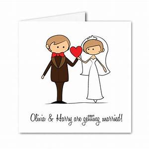 Cartoon bride groom wedding invitation invitation for Wedding invitations cartoon pictures