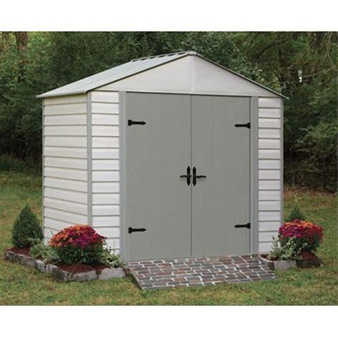 garden sheds rona garden shed 8 x 5 vinyl steel beige grey rona