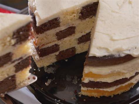 chocolate  vanilla checkered flag cake recipe nancy fuller food network