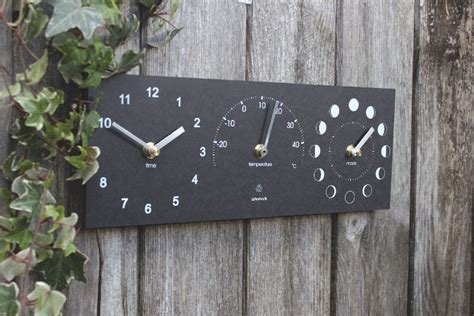 eco moon phase clock thermometer ashortwalk