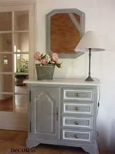 Meuble Blanc Et Gris : meuble bas style louis xii peint gris patin dessus peint ~ Dailycaller-alerts.com Idées de Décoration