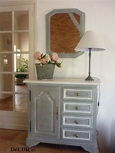 meuble bas style louis xii peint gris patine dessus peint With meuble repeint en blanc