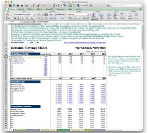 Startup Business Plan Financials Template by Business Plan Financial Model Template Bizplanbuilder