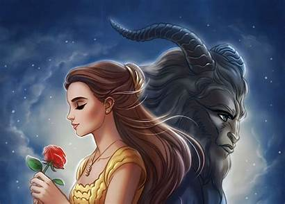 Beast Belle Wallpapers Disney Backgrounds Animated Action