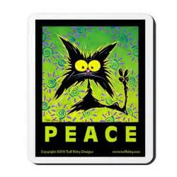 peace cats cat peace sign mousepad by tuffkitty