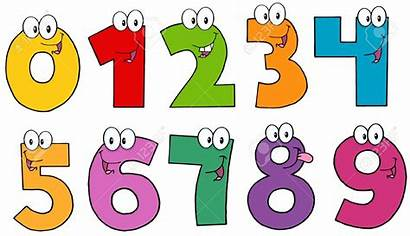 Cartoon Numbers Funny Characters Nombres Mascot Number