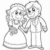 Coloring Wedding Bride Groom Pages Surfnetkids Royal sketch template