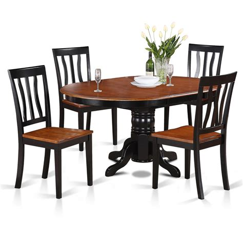 Wooden Importers Easton 5 Piece Dining Set & Reviews Wayfair