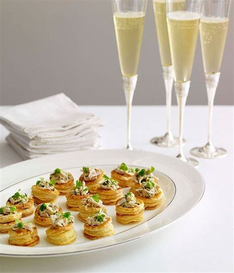 puff pastry canapes ideas chagne chicken vol au vents appetizers snacks