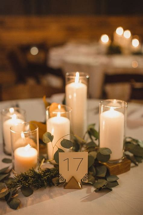 table decorations candles 40 chic wedding ideas using candles wedding