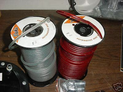 Old School Spark Plug Wire Clear Red Bobber Triumph Harey