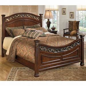 Ashley furniture leahlyn queen panel bed in brown local for Ashley furniture and mattress outlet