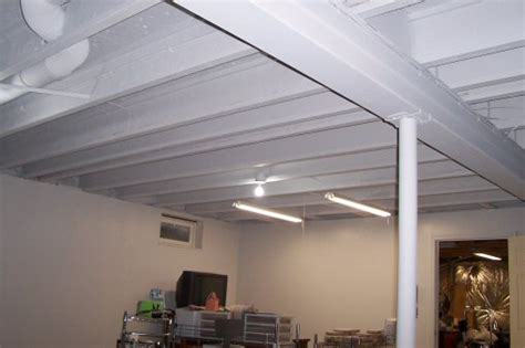 unfinished basement ceiling paint ideas great tutorial on how to paint a basement ceiling