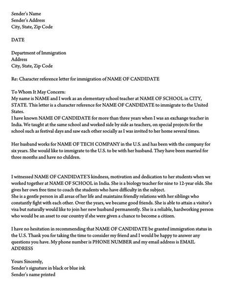 letter  support  immigration  sample reference