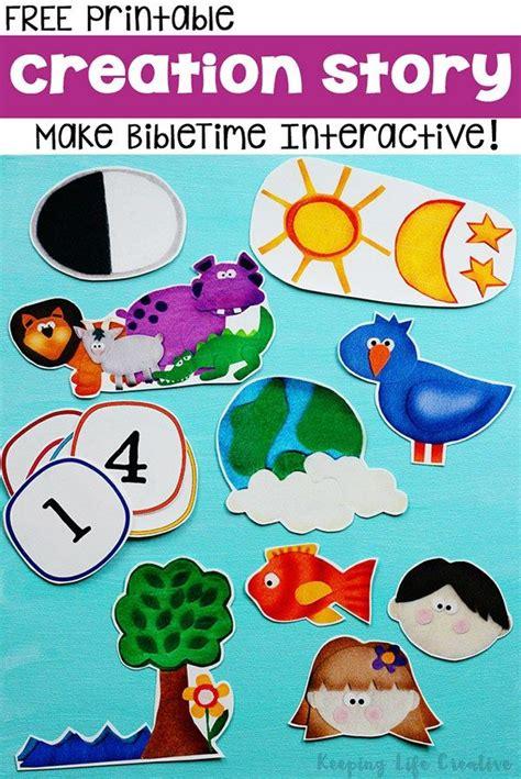 the creation story interactive printables preschool 665 | c77f73b5c26601af3210316e45e30a0e