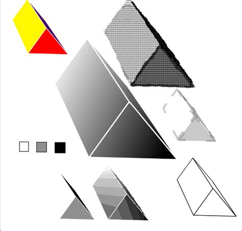shade  triangular prism  steps  pictures