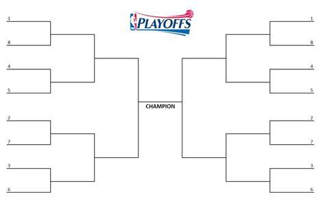 nba playoff bracket printable blank bracket