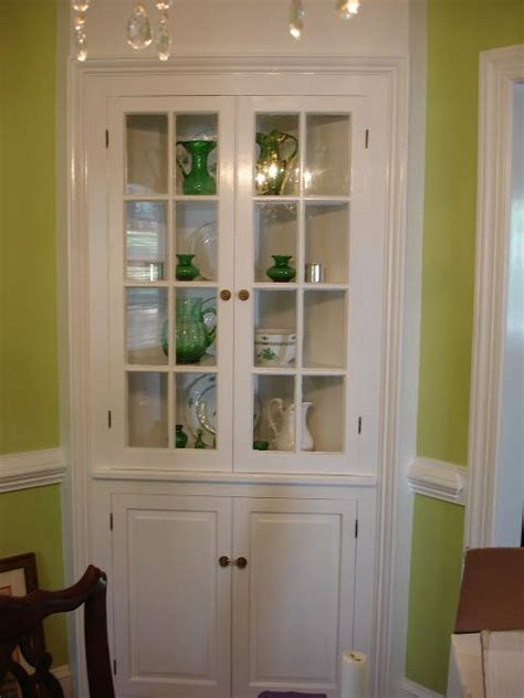 Built In Corner China Cabinet  Woodworking Projects & Plans