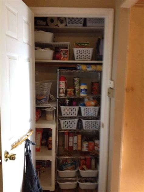 coat closet converted   pantry organizing  home