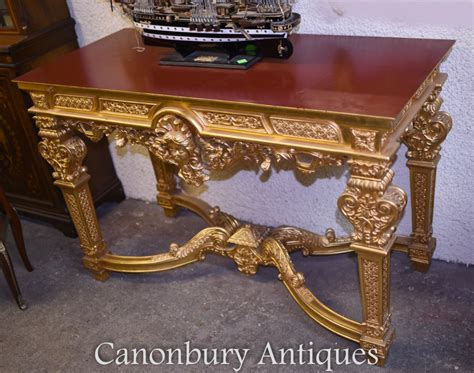 louis xvi table louis xvi gilt console table gilded tables