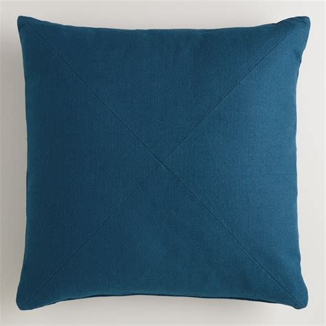 world market pillows blue herringbone cotton throw pillow world market
