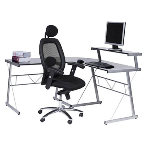 bureau en verre d angle bureau d 39 angle design chili en acier et verre sécurit