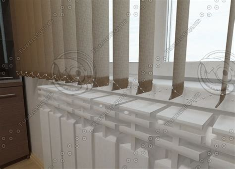 3d office window curtain