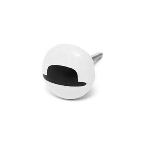 bouton de meuble original chapeau noir boutons mandarine boutons de portes