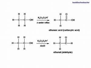 Kwok The Chem Teacher  Oxidation Of Primary Alcohols Using