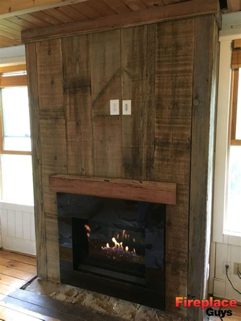 modern rustic  fireplace guys