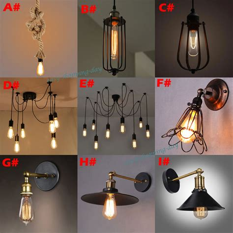 Diy Edison Chandelier by Vintage Edison Style Industrial Retro Ceiling Lighs