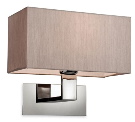 rectangular wall light with oblong shade