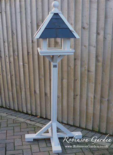 bird table bespoke tables garden feeder wooden painted houses robinsongarden feeders robinson plans argos hand stand hanging making build ball