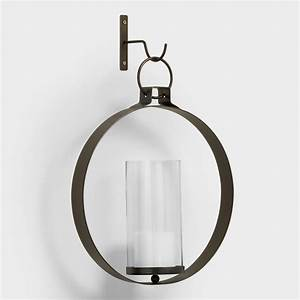 Bronze Metal Ethan Round Pendant Sconce World Market