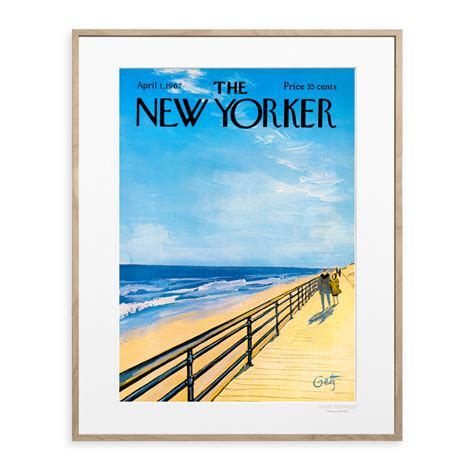 Arthur Getz poster - Plage - Illustration The New Yorker 32