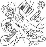 Sewing Collage Hand Urbanthreads Designs Embroidery Tools Needlework Line Patterns Outline Thread Coloring Pages Urban Threads Quilting Pattern Stitch Drawings sketch template